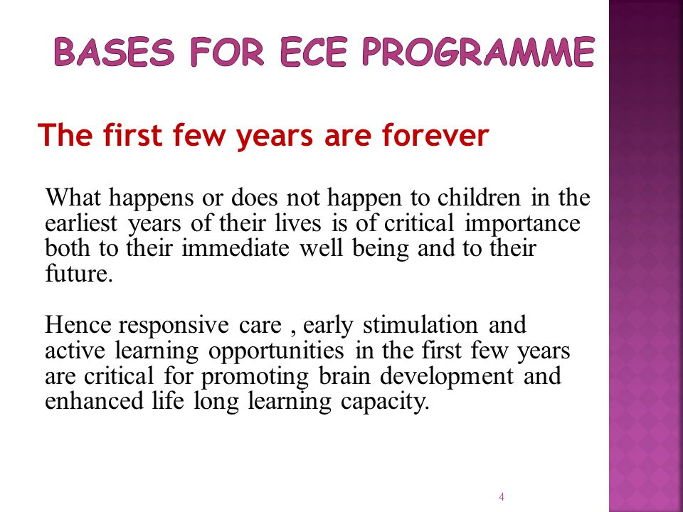 Bases for ECE Programme