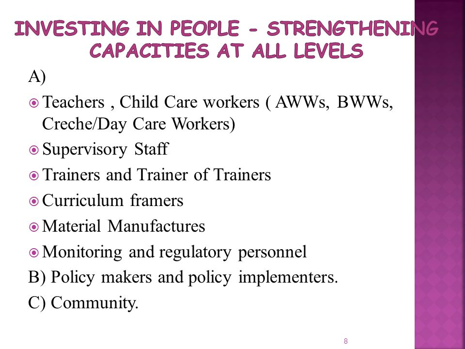 Investing In People - Strengthening Capacities at all Levels