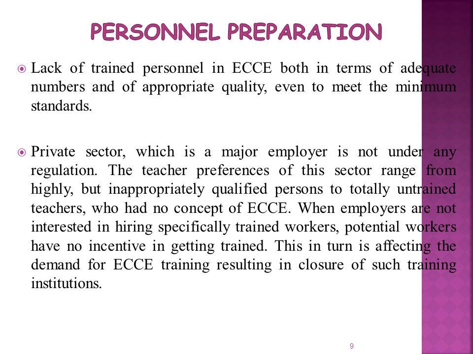 Personnel Preparation