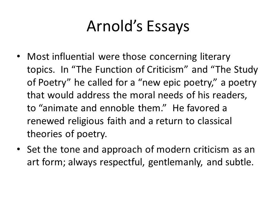 Arnold's Essays
