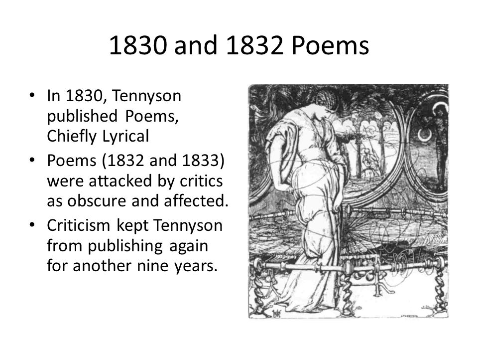 tennyson as a victorian poet Ulysses is a poem in blank verse by the victorian poet alfred, lord tennyson (1809–1892), written in 1833 and published in 1842 in tennyson's well-received second volume of poetry.