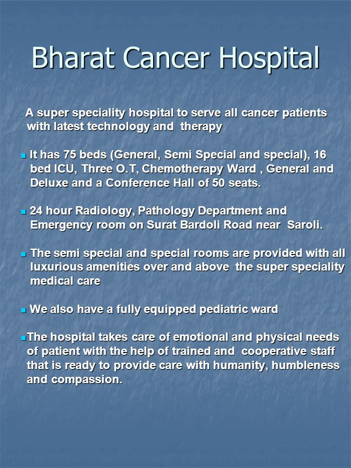 Bharat Cancer Hospital