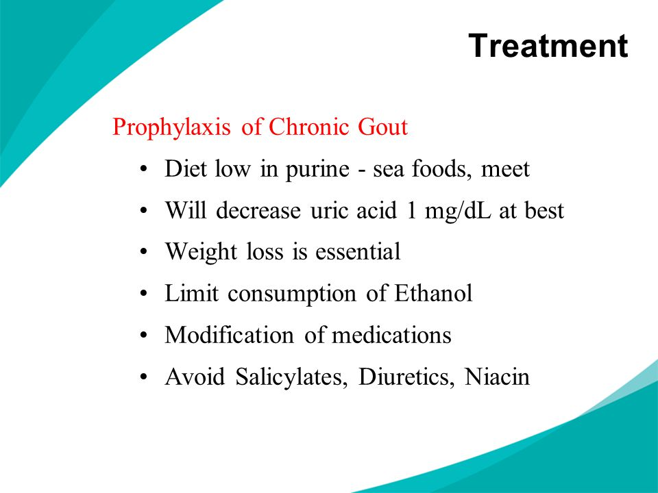 Treatment Prophylaxis of Chronic Gout