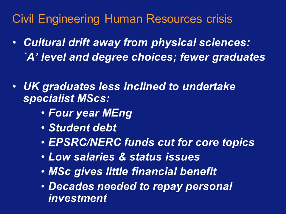 Civil Engineering Human Resources crisis