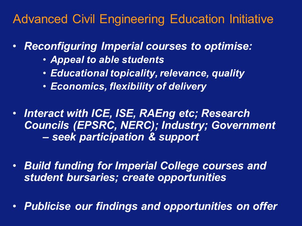 Advanced Civil Engineering Education Initiative