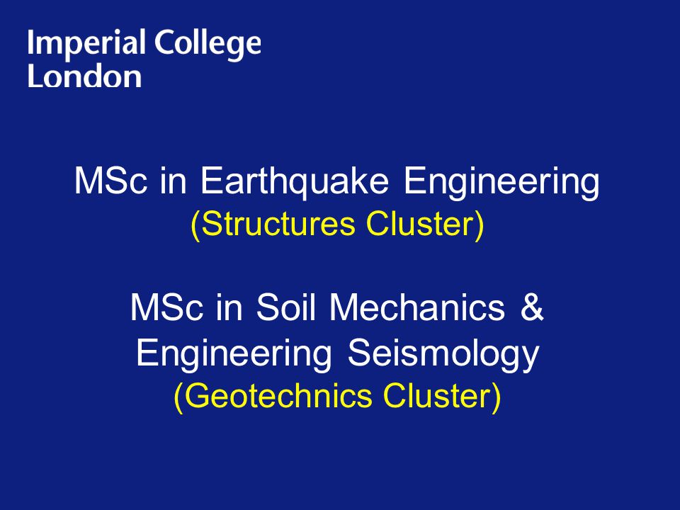 MSc in Earthquake Engineering