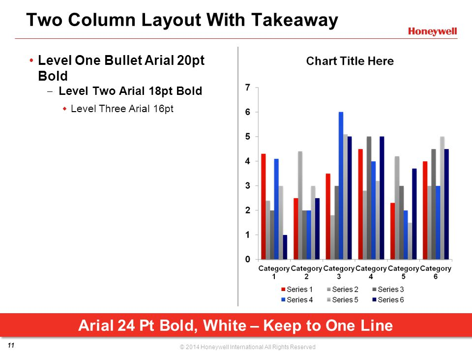 Two Column Layout With Takeaway