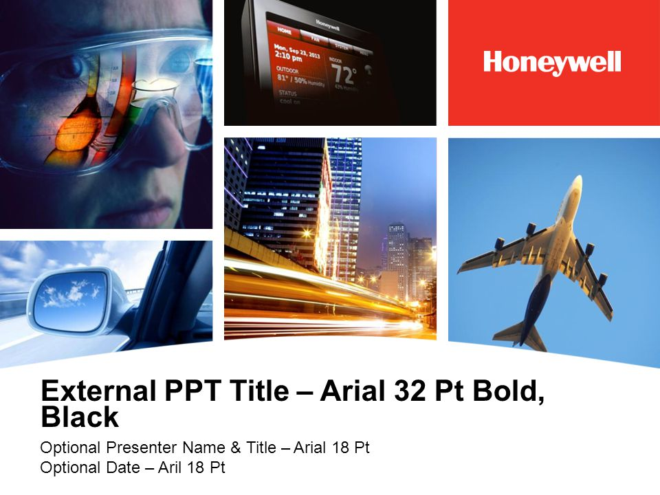 External PPT Title – Arial 32 Pt Bold, Black