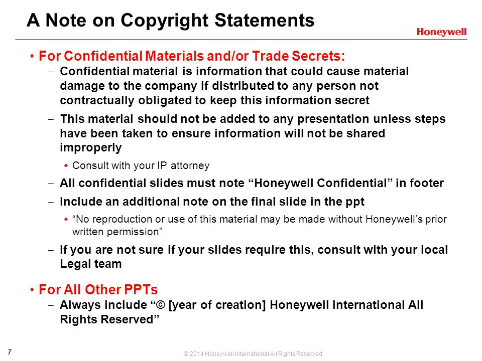 A Note on Copyright Statements