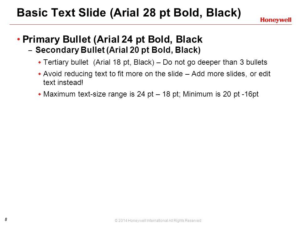 Basic Text Slide (Arial 28 pt Bold, Black)