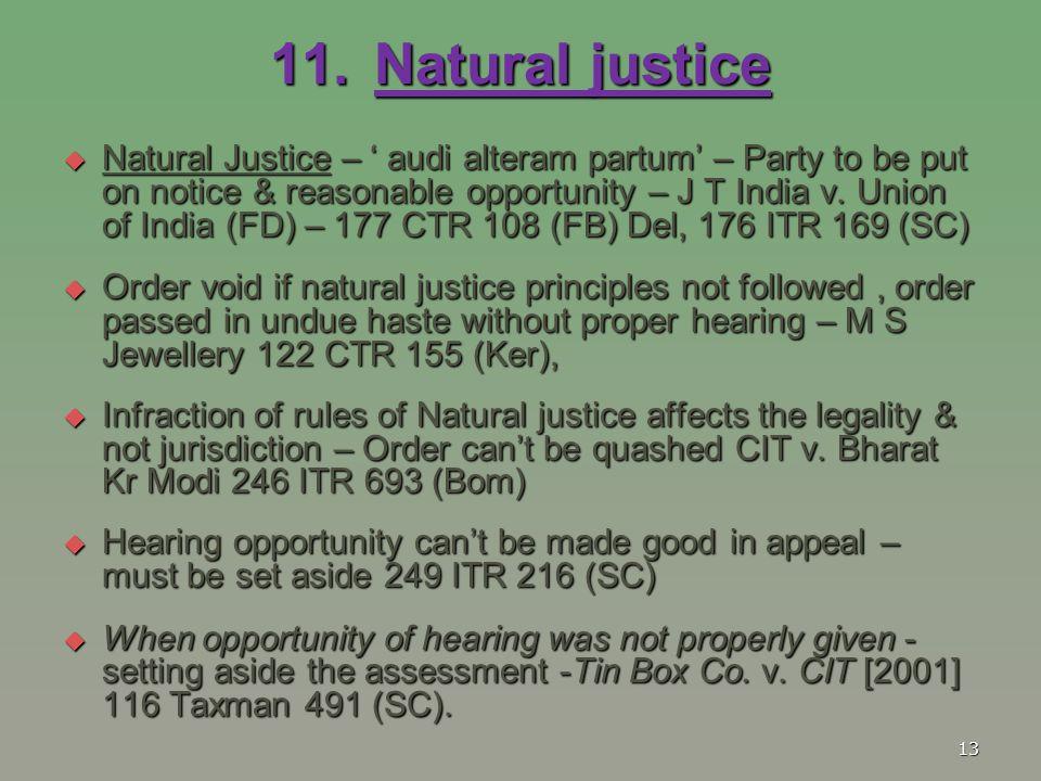 11. Natural justice