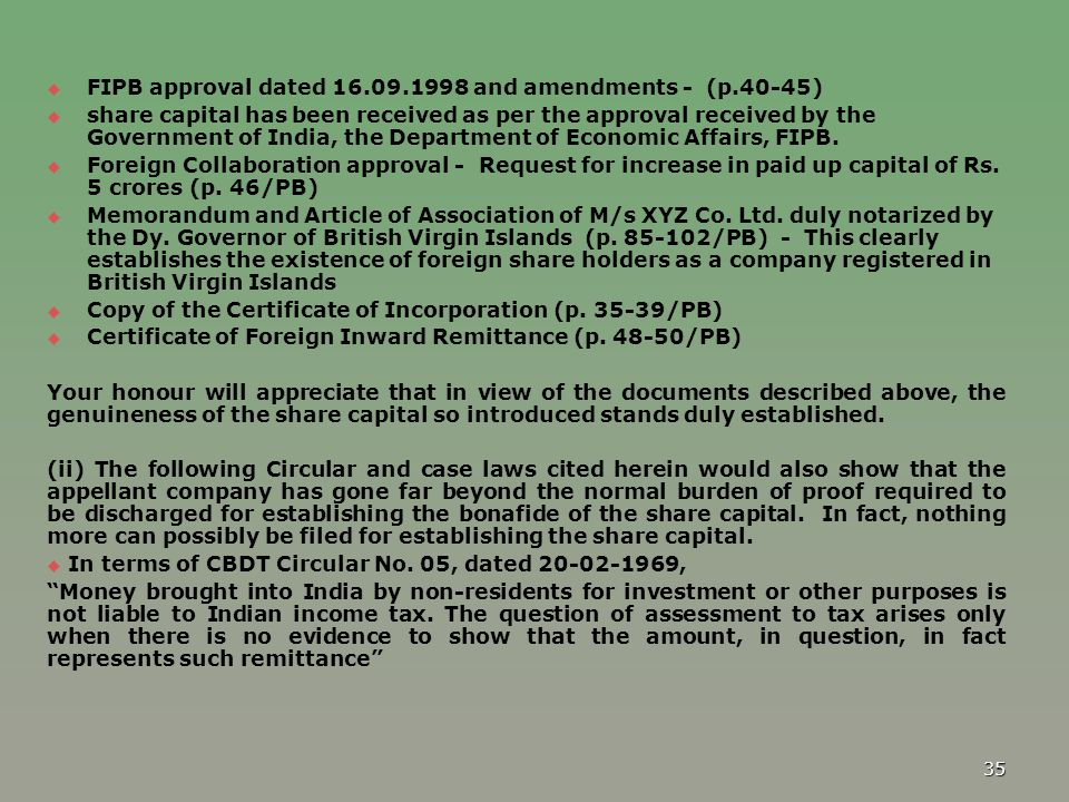 FIPB approval dated 16.09.1998 and amendments - (p.40-45)
