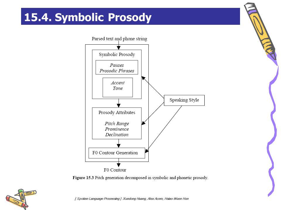 15.4. Symbolic Prosody