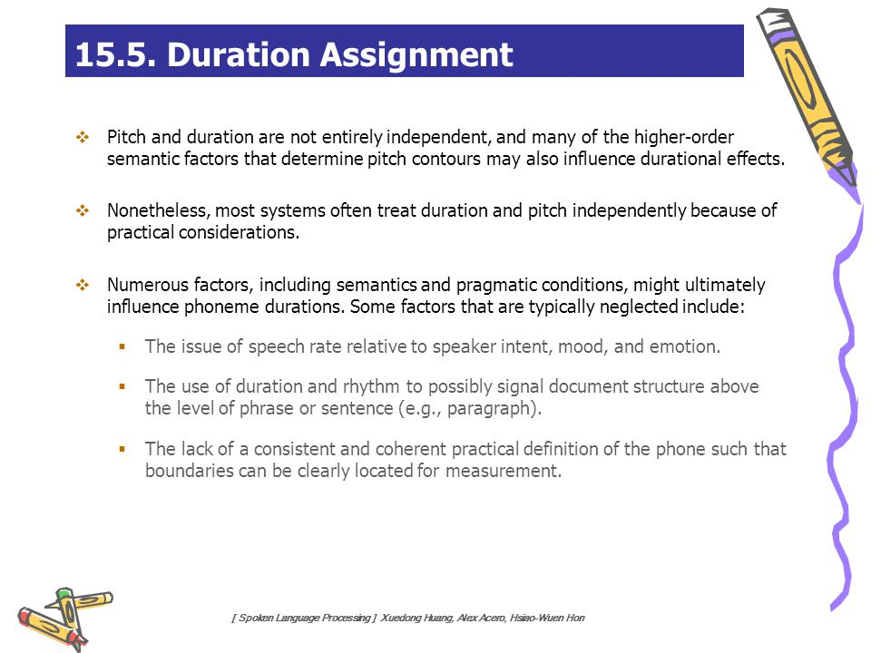 15.5. Duration Assignment