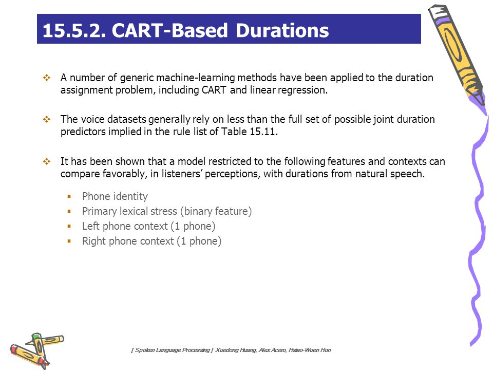 15.5.2. CART-Based Durations