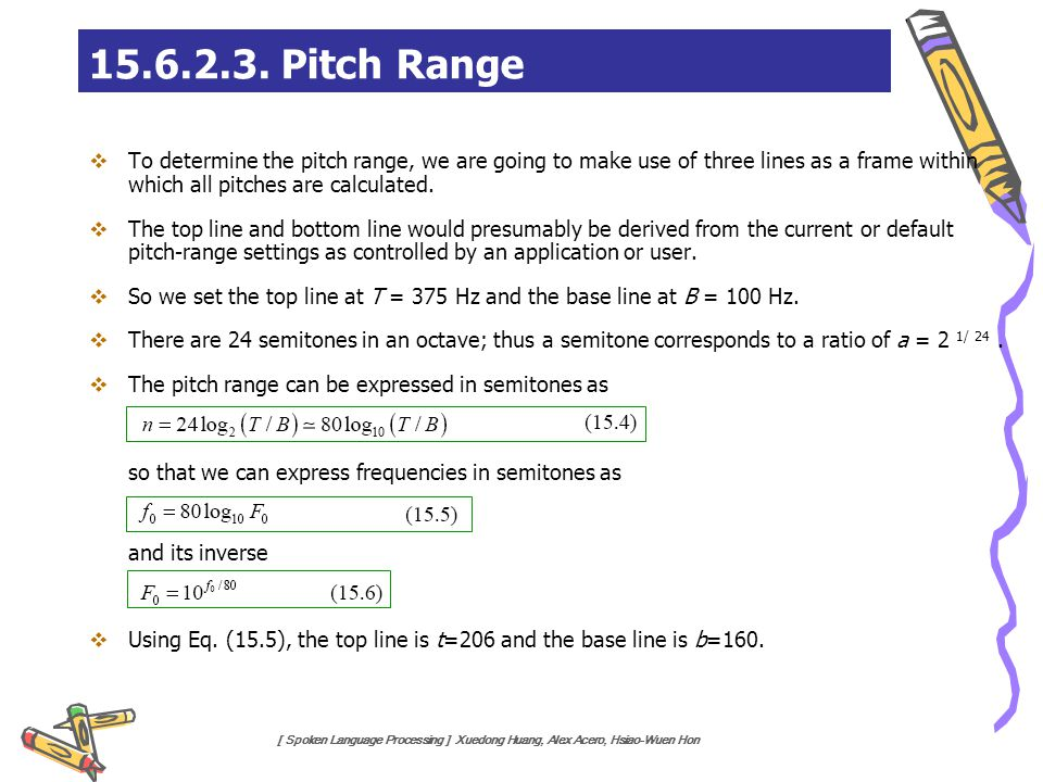 15.6.2.3. Pitch Range and its inverse