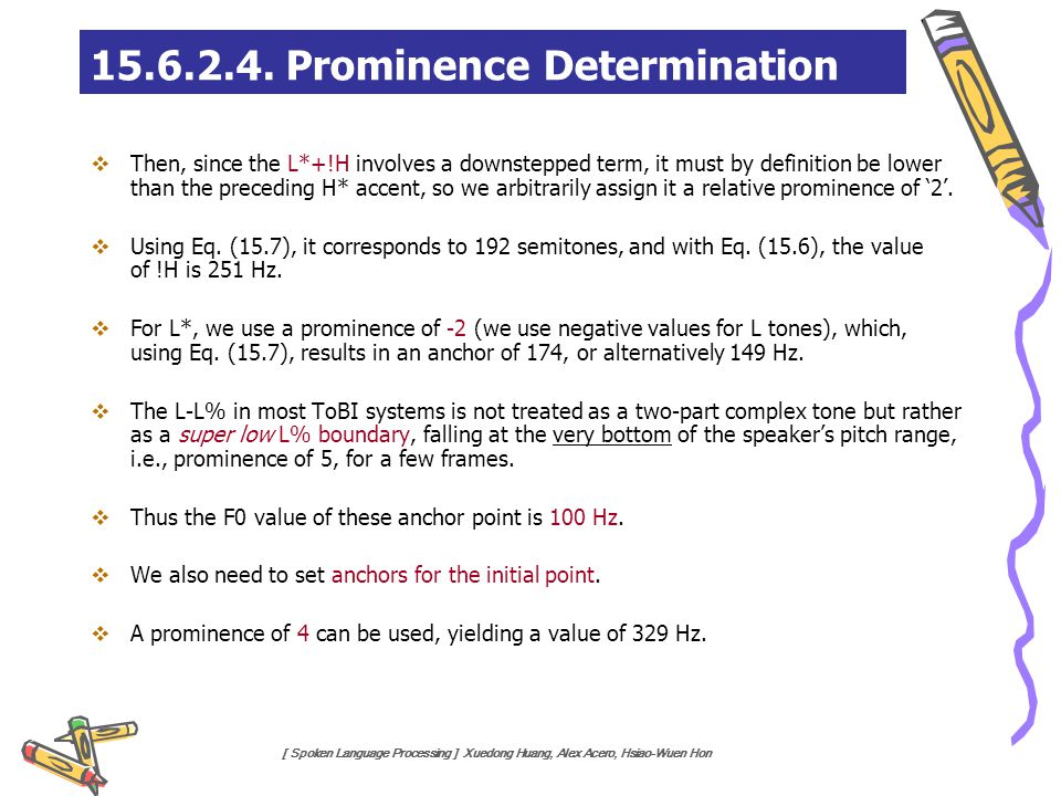 15.6.2.4. Prominence Determination