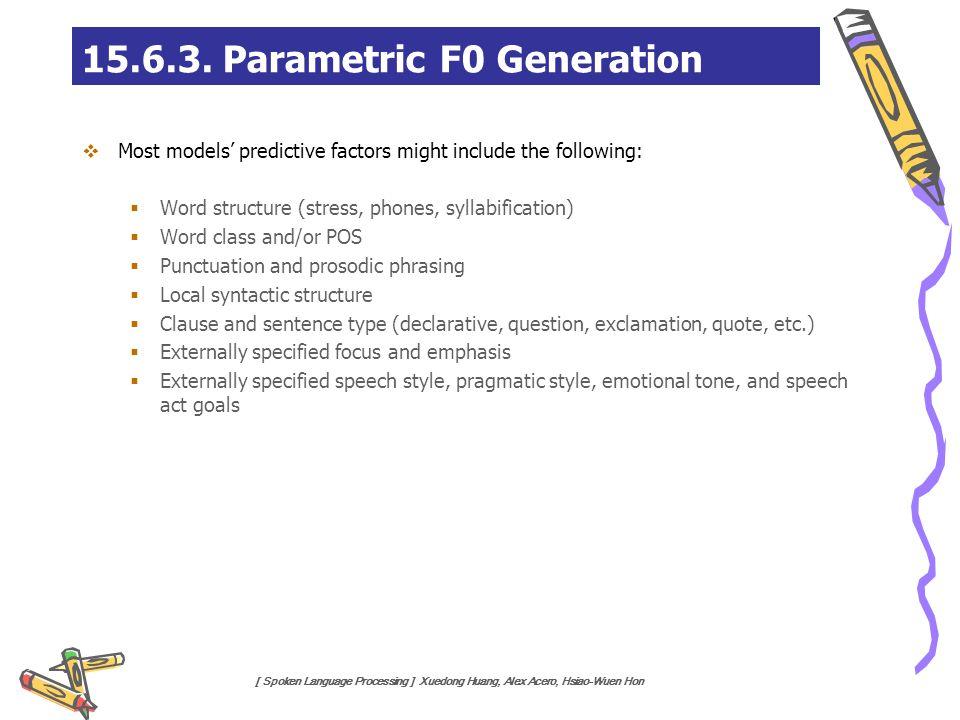 15.6.3. Parametric F0 Generation