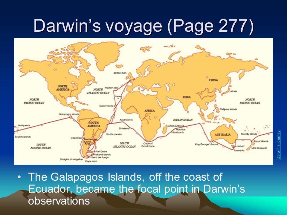 Darwin's voyage (Page 277)