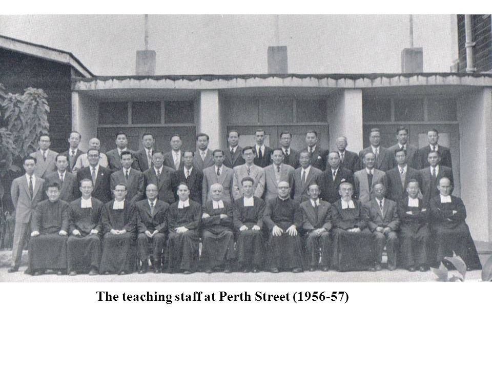 The teaching staff at Perth Street (1956-57)