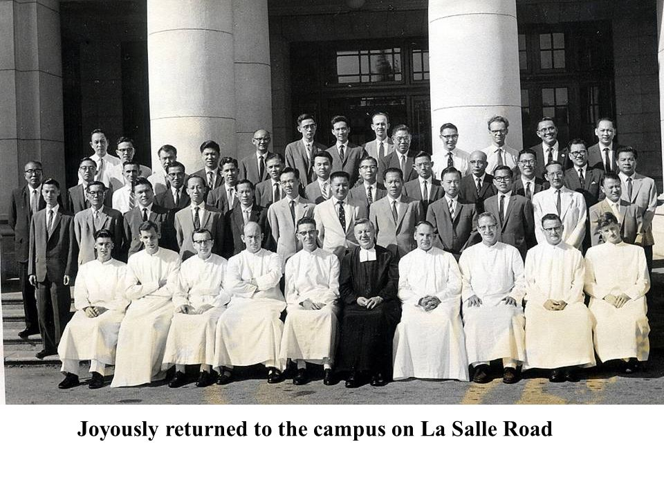 Joyously returned to the campus on La Salle Road