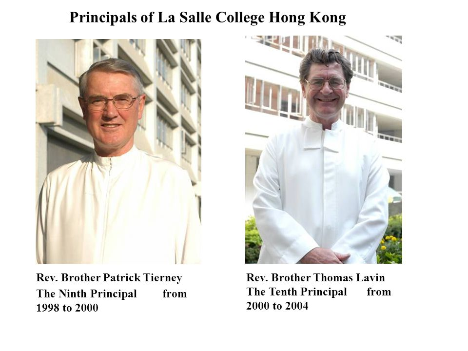 Principals of La Salle College Hong Kong
