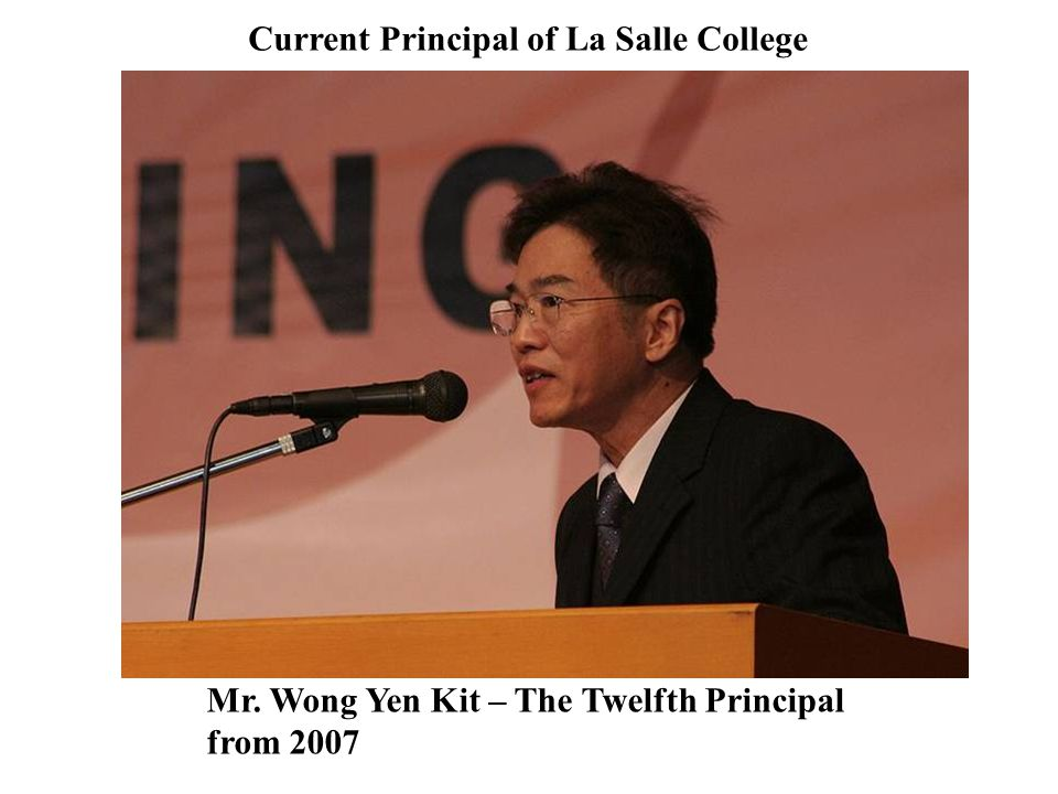 Current Principal of La Salle College