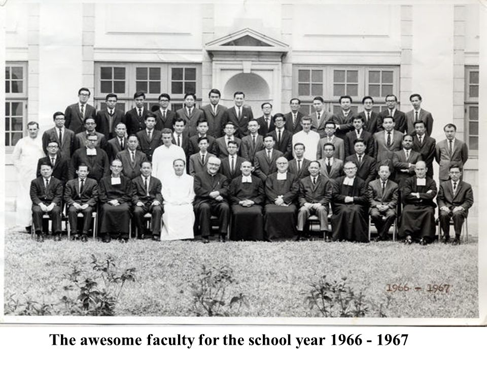 The awesome faculty for the school year 1966 - 1967