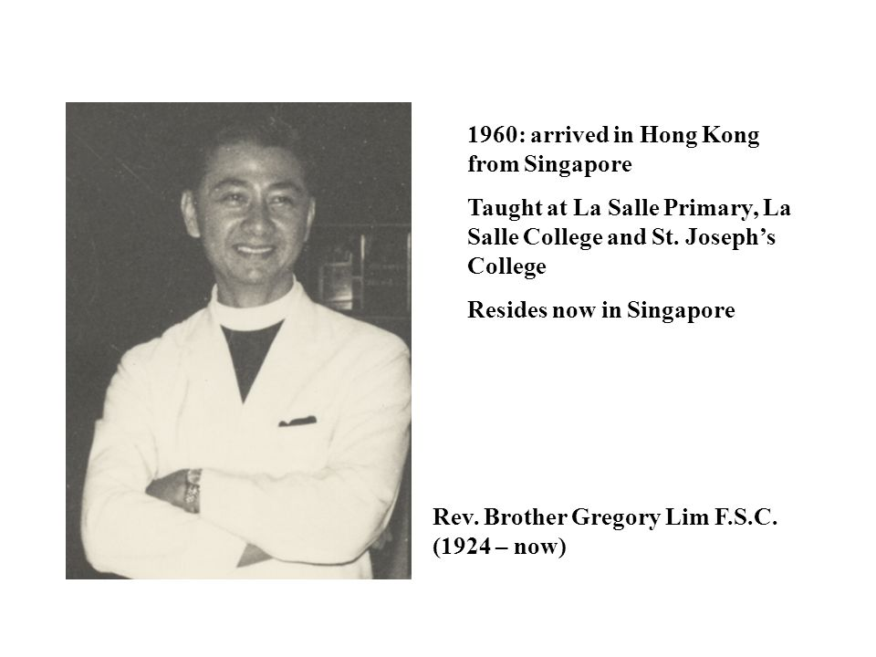 1960: arrived in Hong Kong from Singapore