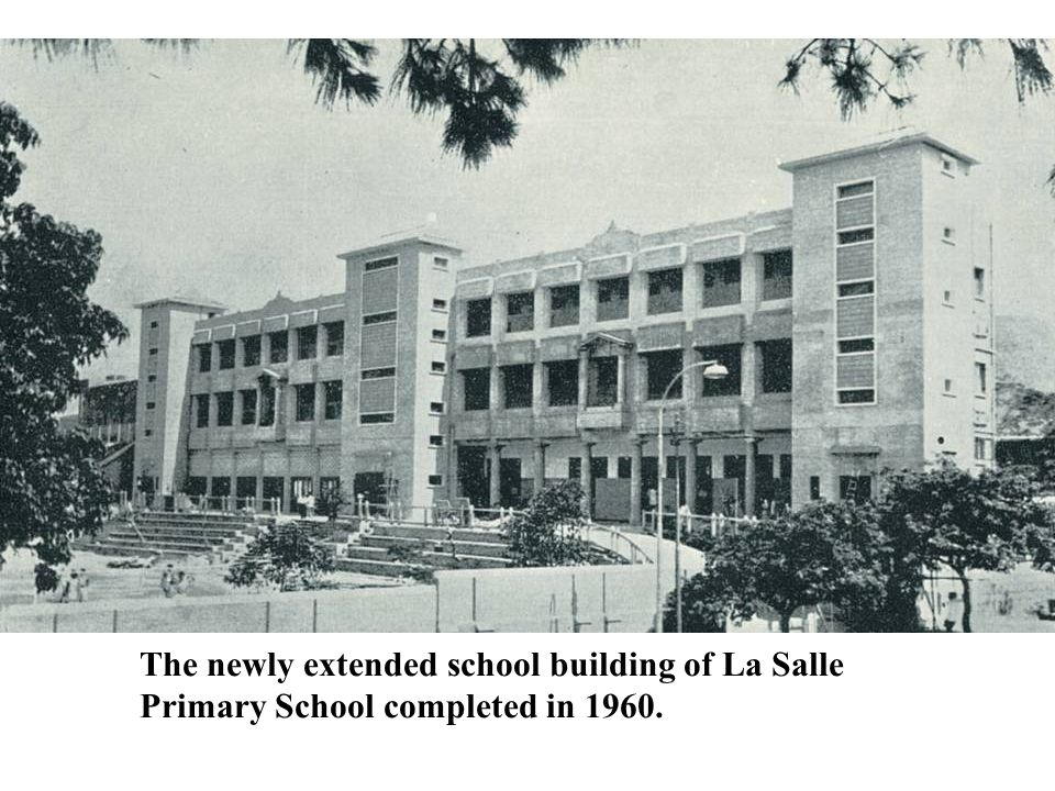 The newly extended school building of La Salle Primary School completed in 1960.