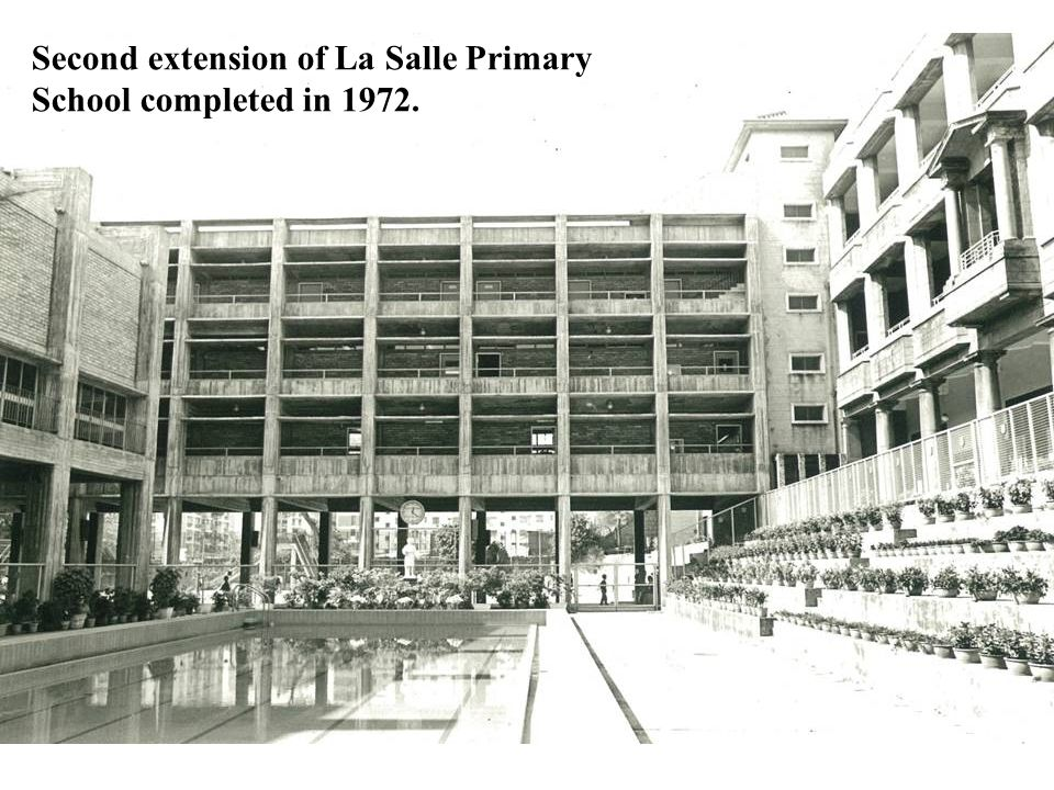 Second extension of La Salle Primary School completed in 1972.