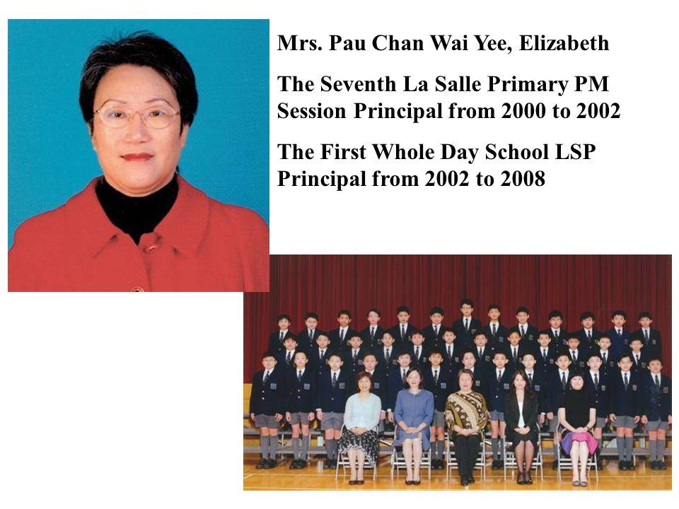 Mrs. Pau Chan Wai Yee, Elizabeth