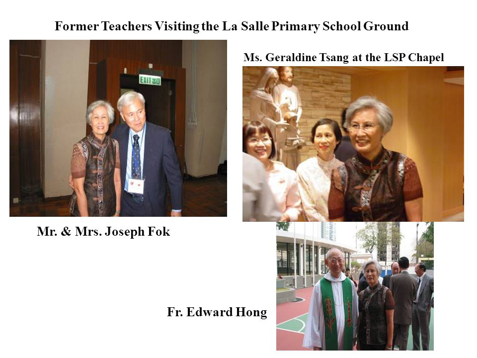 Former Teachers Visiting the La Salle Primary School Ground