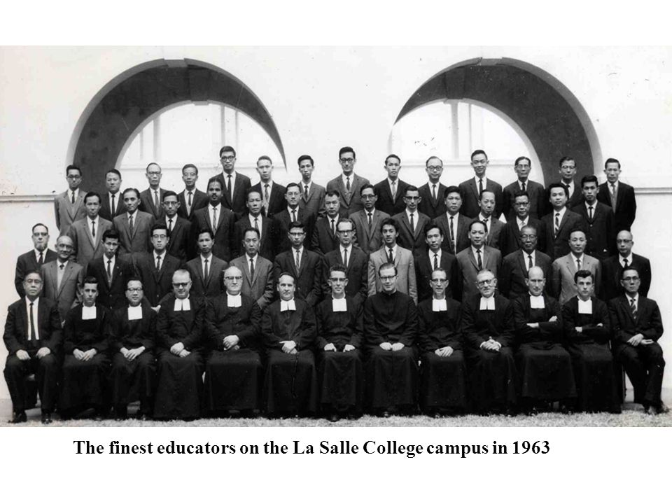 The finest educators on the La Salle College campus in 1963