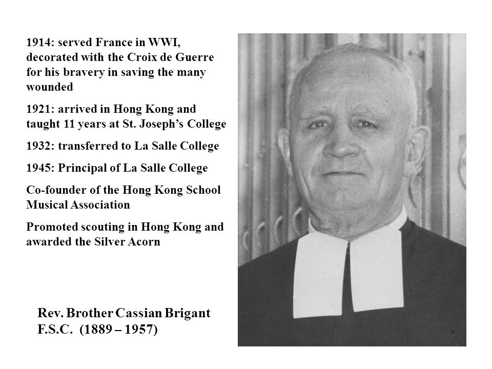 Rev. Brother Cassian Brigant F.S.C. (1889 – 1957)