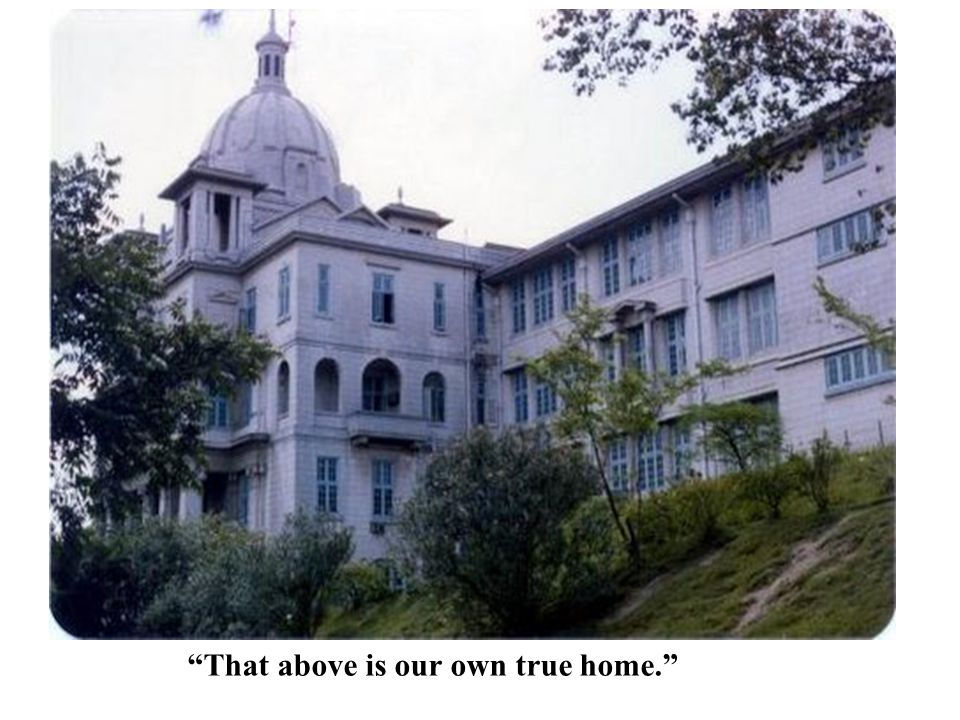 That above is our own true home.