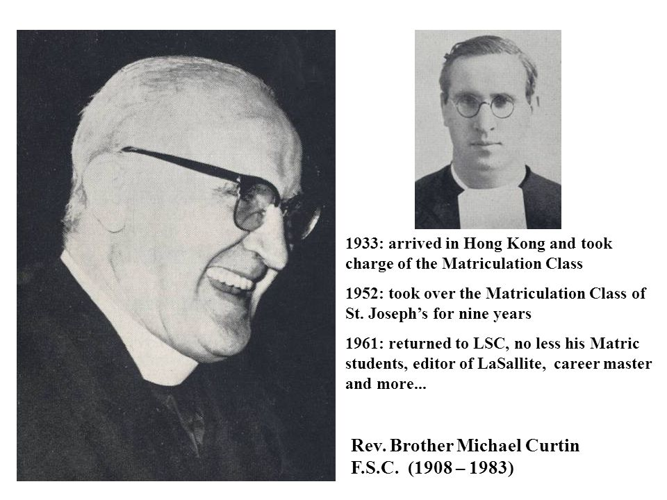 Rev. Brother Michael Curtin F.S.C. (1908 – 1983)