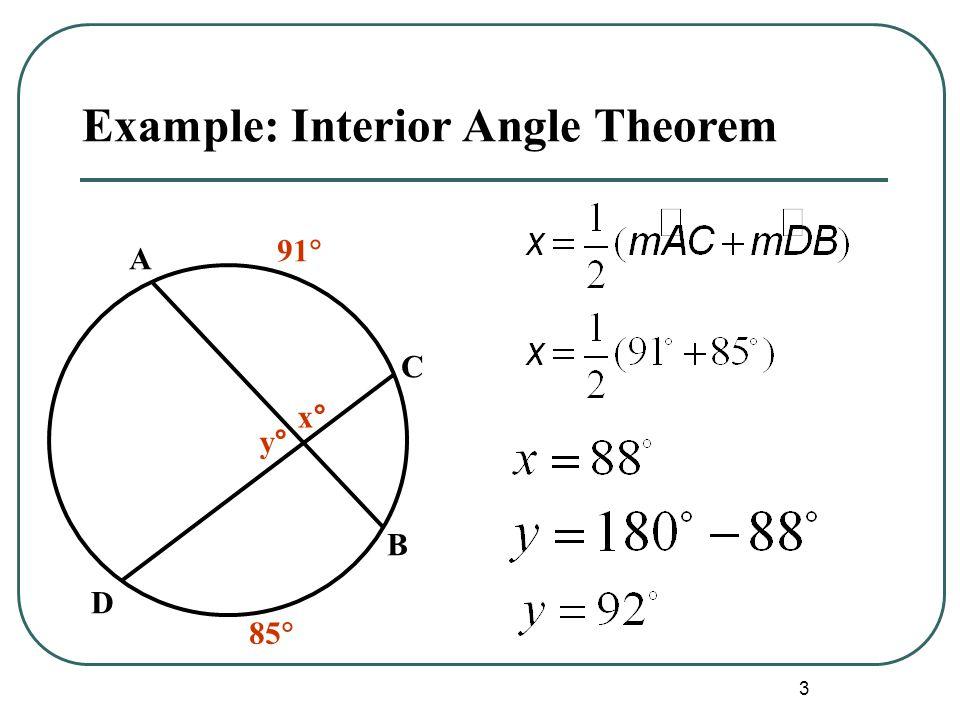 Example: Interior Angle Theorem