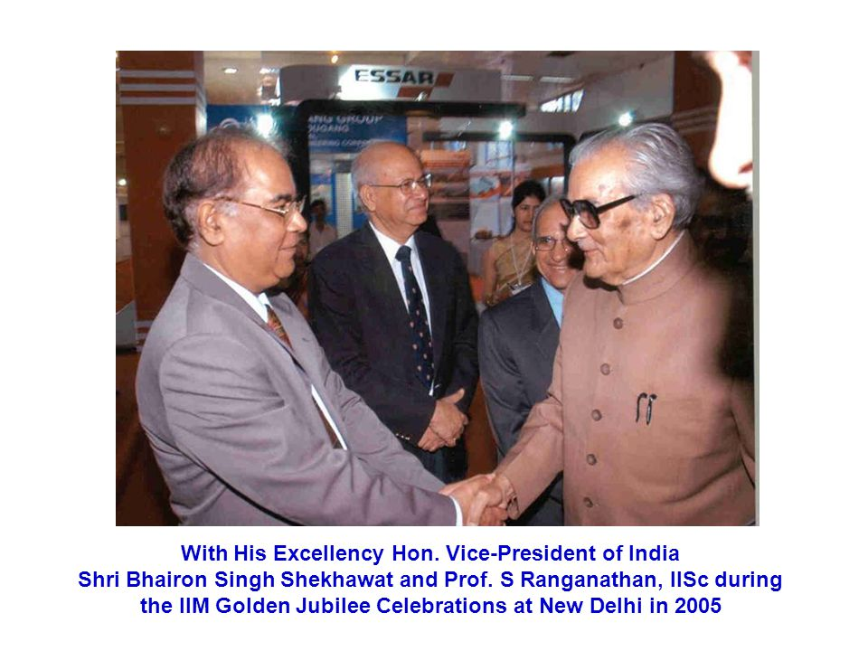 With His Excellency Hon. Vice-President of India