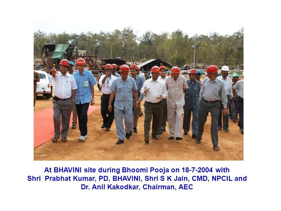 At BHAVINI site during Bhoomi Pooja on 18-7-2004 with