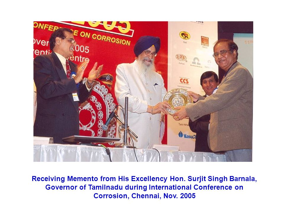 Receiving Memento from His Excellency Hon