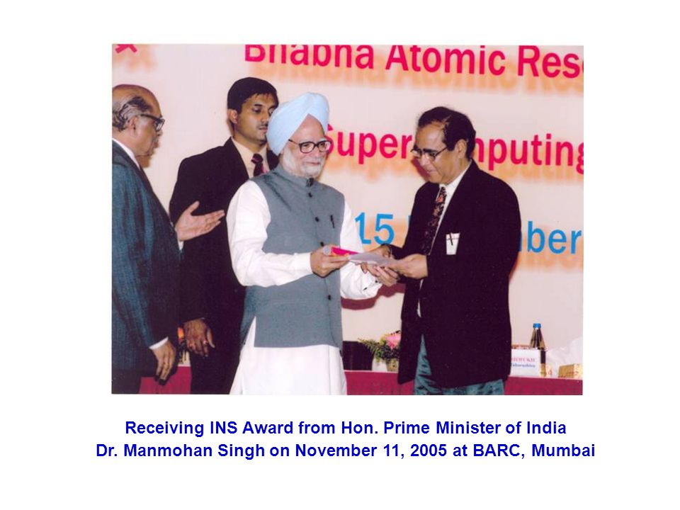 Receiving INS Award from Hon. Prime Minister of India