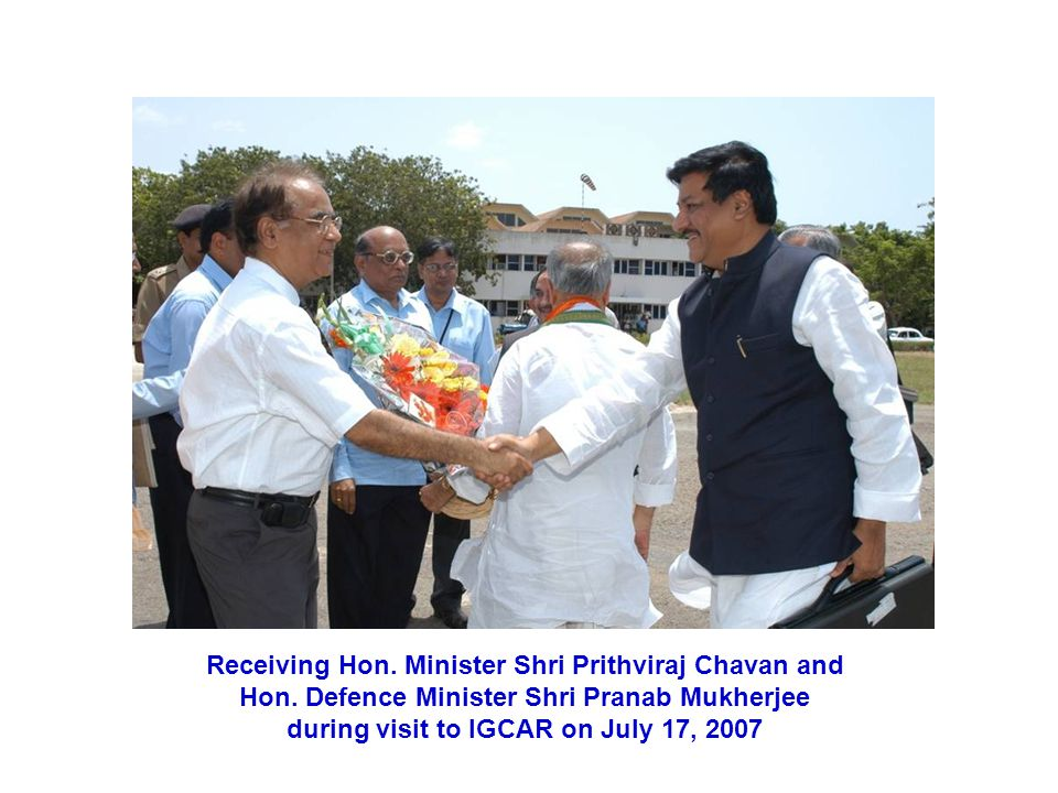 Receiving Hon. Minister Shri Prithviraj Chavan and