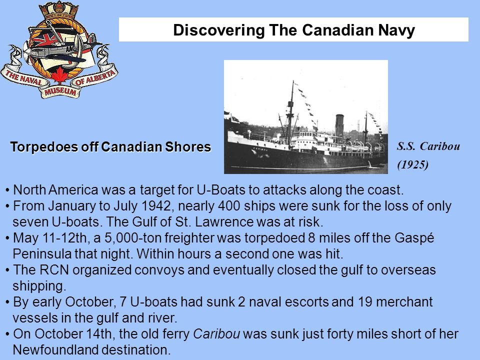 Torpedoes off Canadian Shores