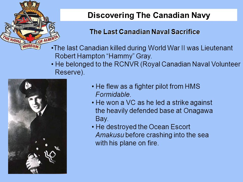 The Last Canadian Naval Sacrifice