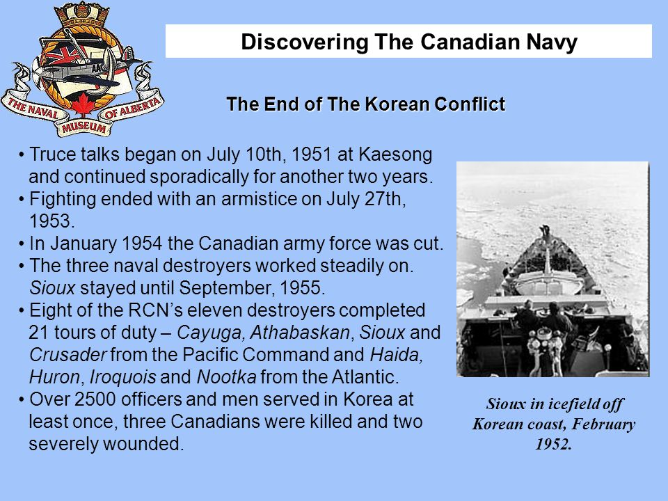 The End of The Korean Conflict