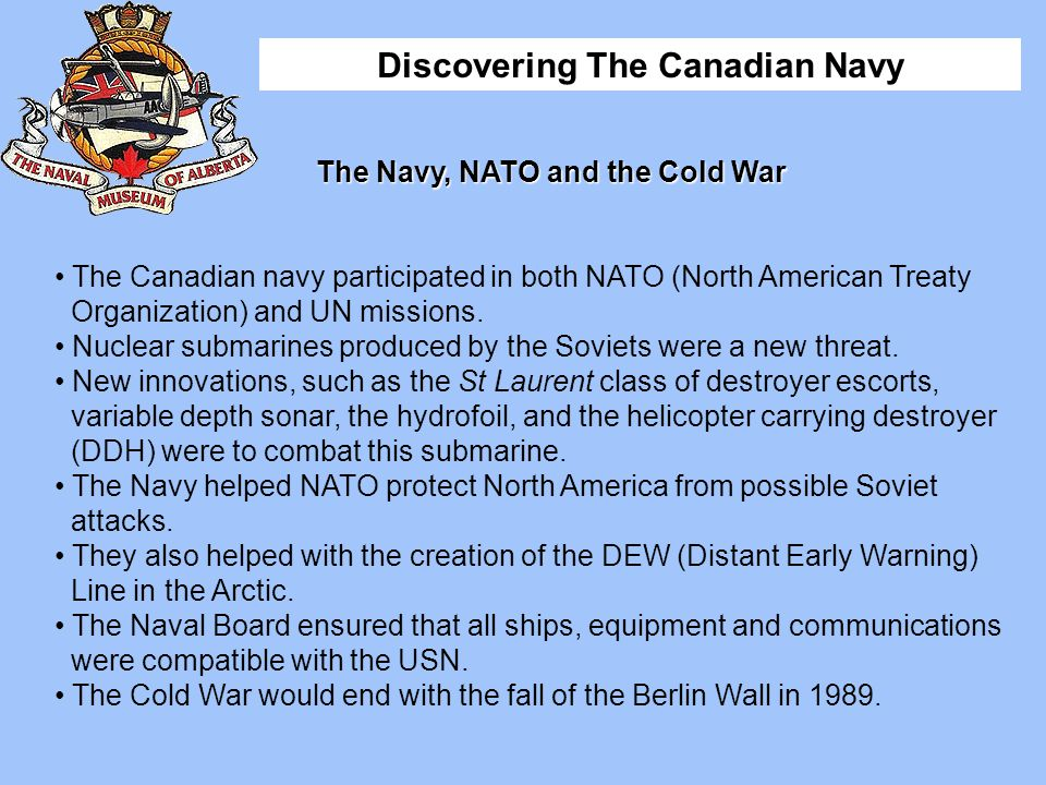 The Navy, NATO and the Cold War