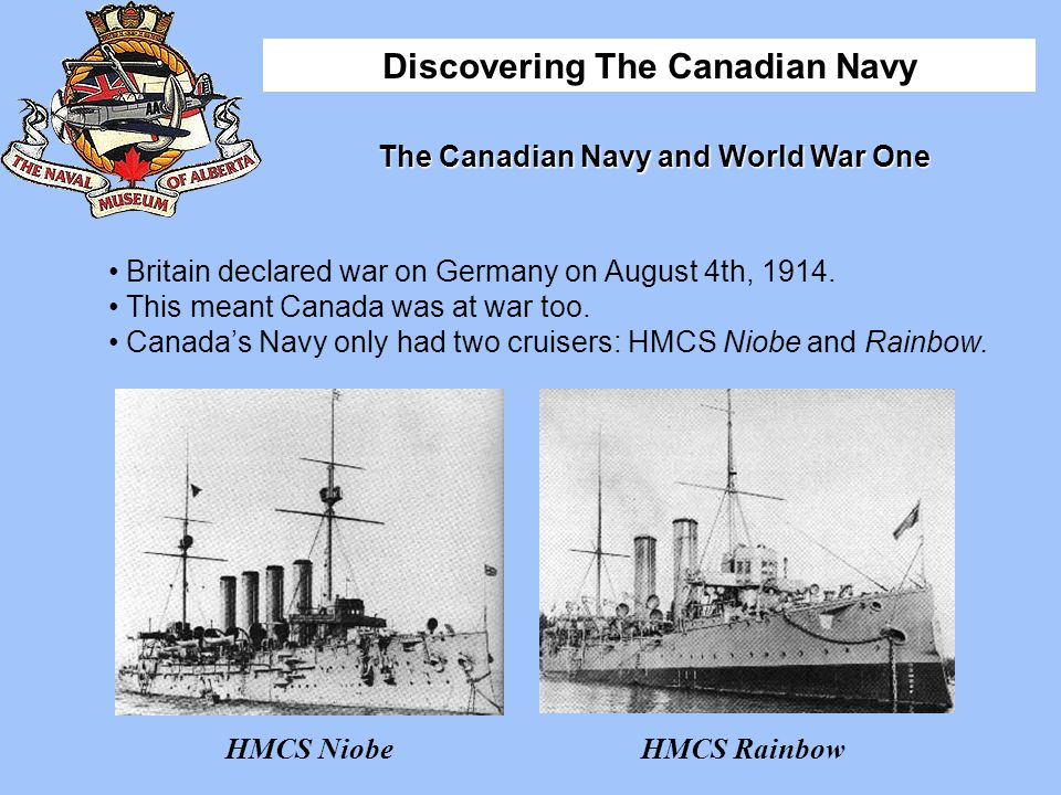 The Canadian Navy and World War One