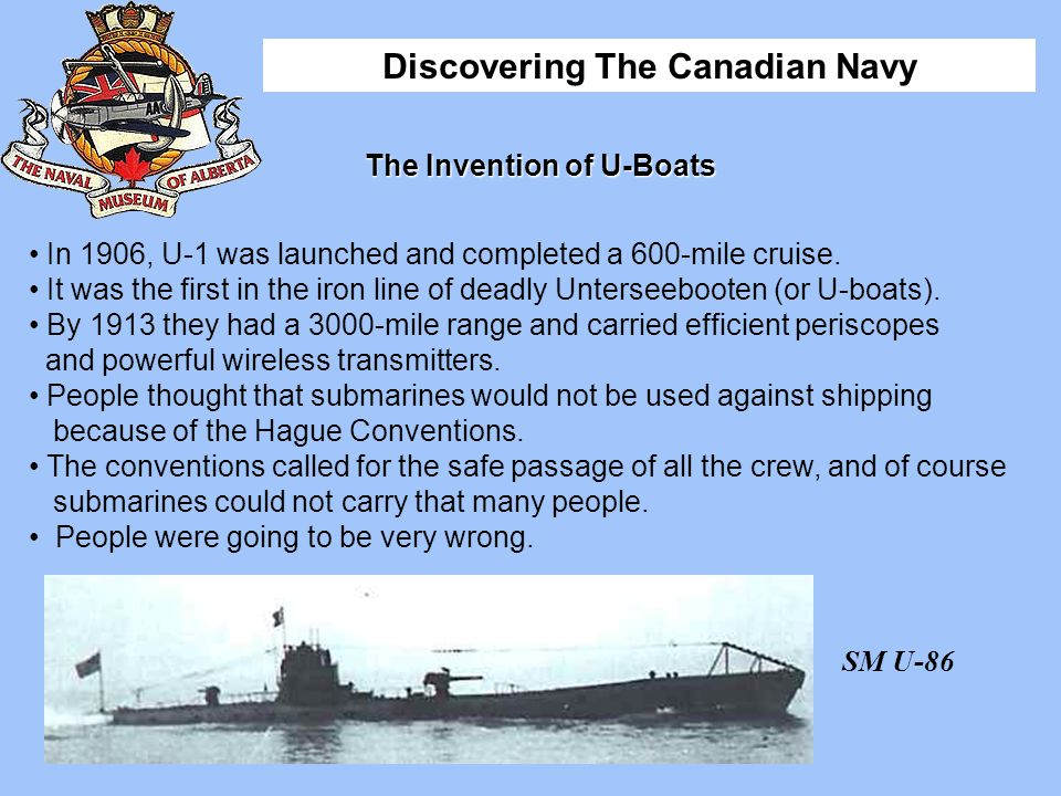 The Invention of U-Boats