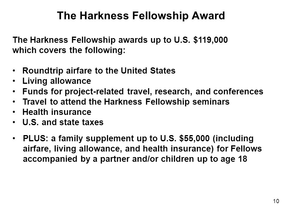 The Harkness Fellowship Award